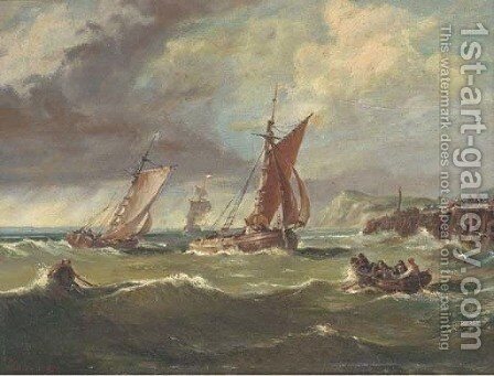 Congestion at the harbour mouth by Ary Pleysier - Reproduction Oil Painting