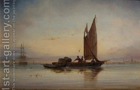 Shipping in a calm by Ary Pleysier - Reproduction Oil Painting