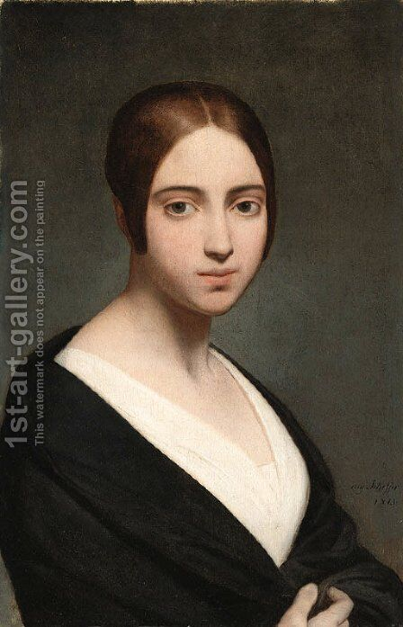 Portrait of a woman by Ary Scheffer - Reproduction Oil Painting