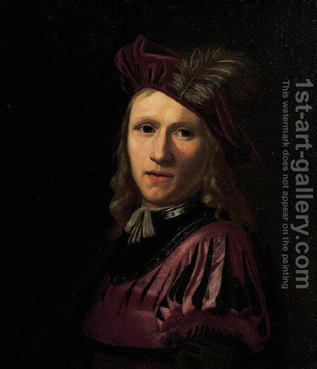 Portrait of a young man by (after) Abraham Van Calraet - Reproduction Oil Painting