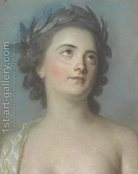 Presumed portrait of Mademoiselle Clairon by (after) Adelaide Labille-Guyard - Reproduction Oil Painting