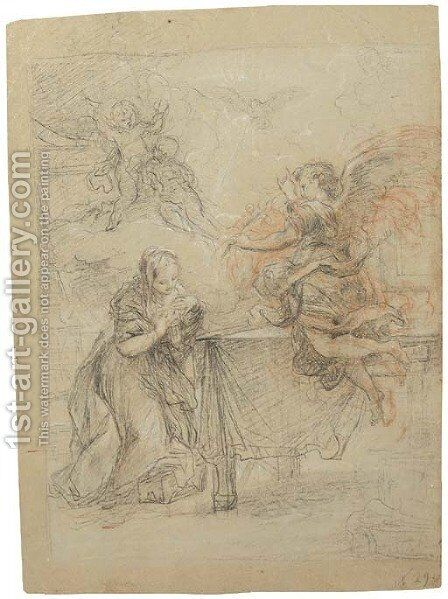 The Annunciation by (after) Agostino Masucci - Reproduction Oil Painting