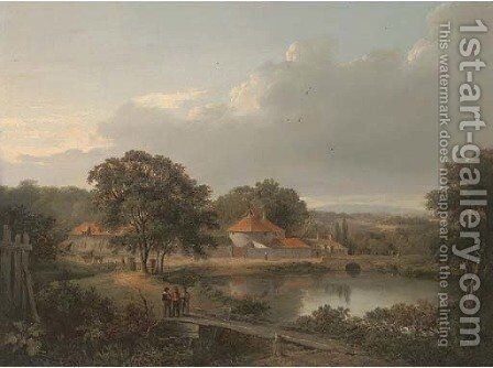 Cannon Mills, near Edinburgh by (after) Alexander Nasmyth - Reproduction Oil Painting