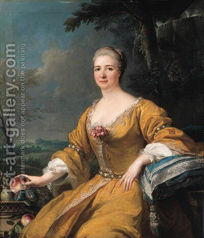 Portrait of the Duchess of Luxembourg by (after) Alexis-Simon Belle - Reproduction Oil Painting