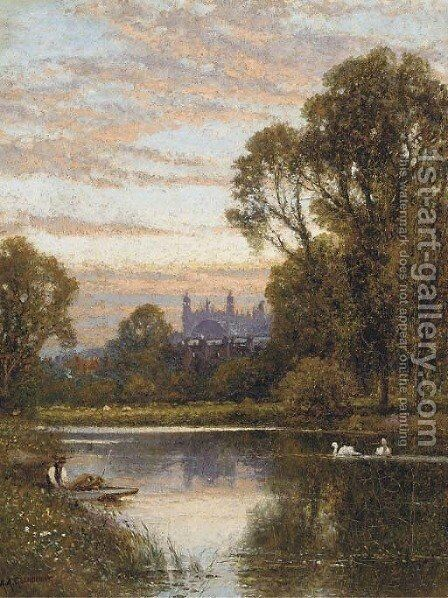 Eton College by (after) Alfred Augustus Glendening - Reproduction Oil Painting