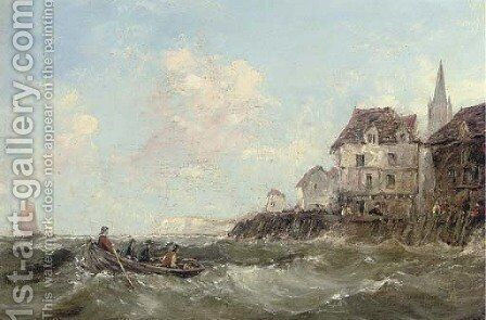 Off to the fishing grounds by (after) Alfred Montague - Reproduction Oil Painting