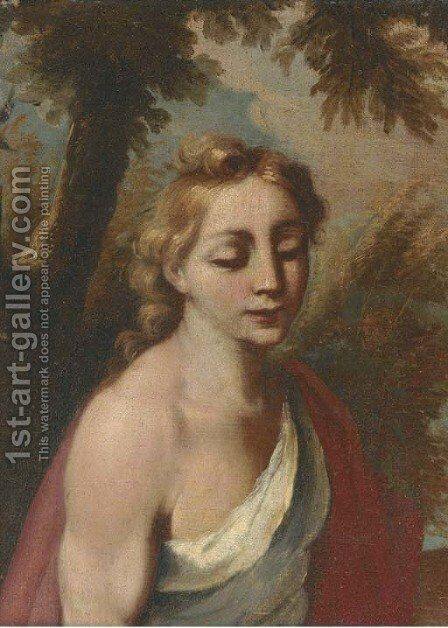 Saint John the Baptist by (after) Angelo Poglia - Reproduction Oil Painting