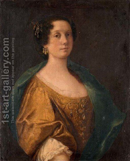 Portrait of a noblewoman by (after) Anton Domenico Gabbiani - Reproduction Oil Painting