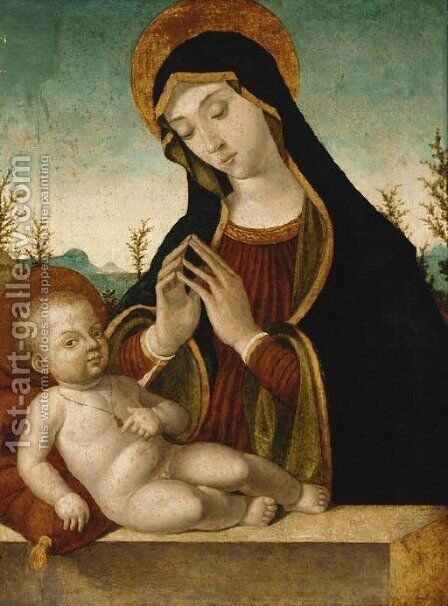 The Madonna and Child by (after) Antonello De Saliba - Reproduction Oil Painting