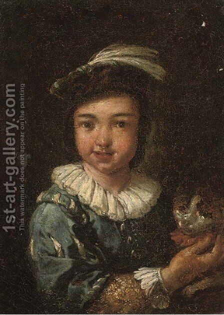 Portrait of a boy by (after) Antonio Amorosi - Reproduction Oil Painting