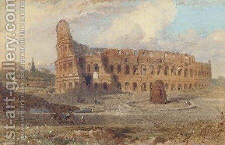 The Colosseum, Rome by (after) Arthur Glennie - Reproduction Oil Painting