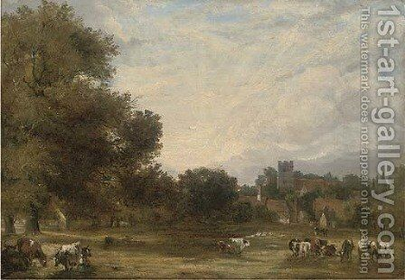 Aylesford Church, Kent by (after) Arthur J. Stark - Reproduction Oil Painting