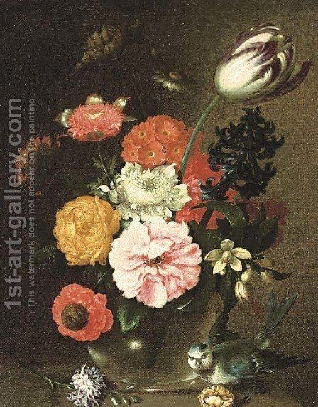 Flowers by (after) August Wilhelm Sievert - Reproduction Oil Painting