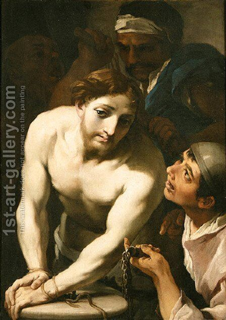 The Flagellation by (after) Aureliano Milani - Reproduction Oil Painting