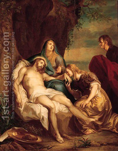 The Lamentation by (after) Balthasar Beschey - Reproduction Oil Painting