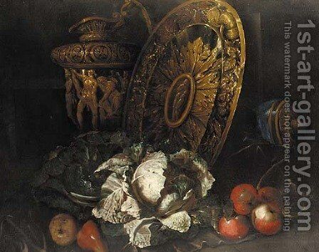 Cabbages by (after) Bartolommeo Bimbi - Reproduction Oil Painting