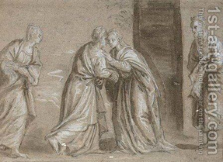 The Visitation by (after) Benedetto Caliari - Reproduction Oil Painting