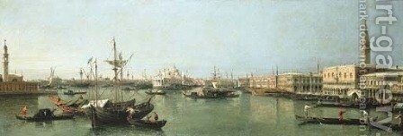 The Bacino di San Marco, Venice by (after) Bernardo Bellotto (Canaletto) - Reproduction Oil Painting