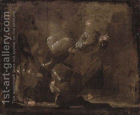 The Denial of Saint Peter by (after) Bernardo Cavallino - Reproduction Oil Painting