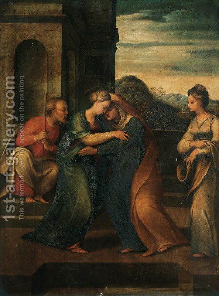 The Visitation by (after) Biagio Pupini - Reproduction Oil Painting