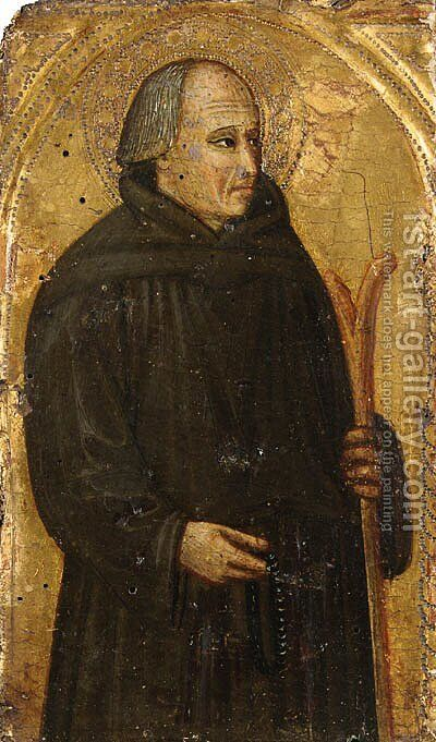 A Franciscan Saint by (after) Bicci Di Lorenzo - Reproduction Oil Painting