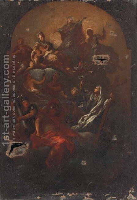 The Assumption of the Virgin by (after) Carlo Innocenzo Carloni - Reproduction Oil Painting