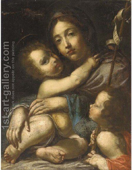 The Madonna and Child with the Infant Saint John the Baptist by (after) Cesare Dandini - Reproduction Oil Painting
