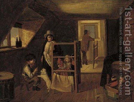 The play room by (after) Charles Hunt - Reproduction Oil Painting