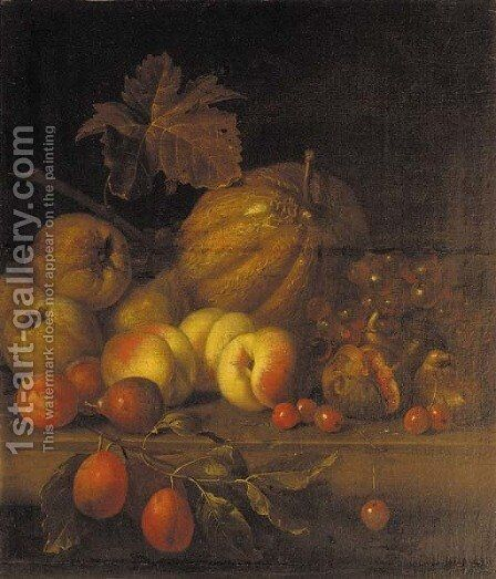 A melon by (after) Charles James Lewis - Reproduction Oil Painting