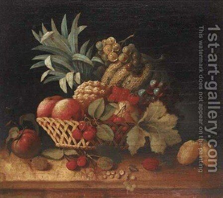 Grapes by (after) Charles James Lewis - Reproduction Oil Painting