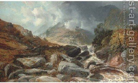 Mist over the Highlands by (after) Clarence Roe - Reproduction Oil Painting