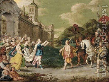 Jephthath's Daughter by (after) Cornelis De Baellieur I - Reproduction Oil Painting