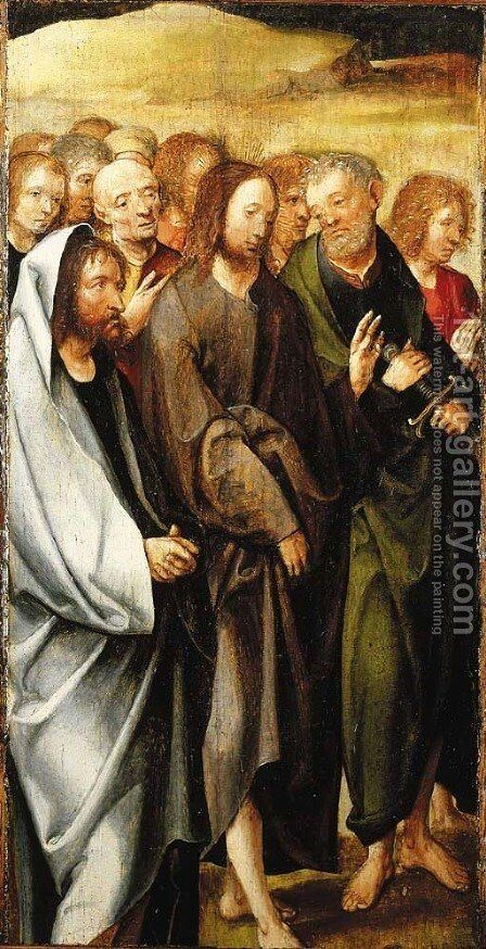 The Betrayal of Christ a fragment by (after) Cornelius Engebrechtsz - Reproduction Oil Painting