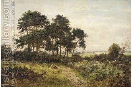 A summer's day, Hindhead, Surrey by (after) Daniel Sherrin - Reproduction Oil Painting