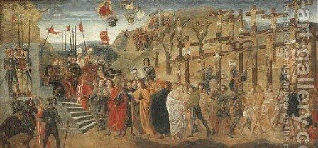 The Martyrdom of Saint Achatius and the Ten Thousand Martyrs by (after) Davide Ghirlandaio - Reproduction Oil Painting