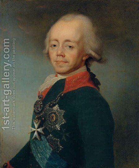 Portrait of Emperor Paul I of Russia by (after) Dimitrii Grigorievich Levitskii - Reproduction Oil Painting