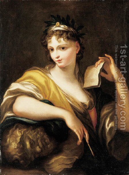 A Personification of the Arts by (after) Domenico Piola - Reproduction Oil Painting