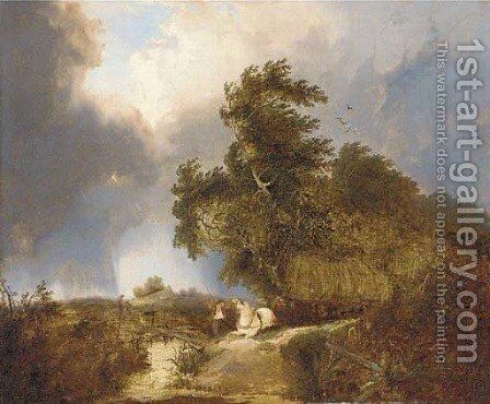 The approaching storm by (after) Edward Charles Williams - Reproduction Oil Painting