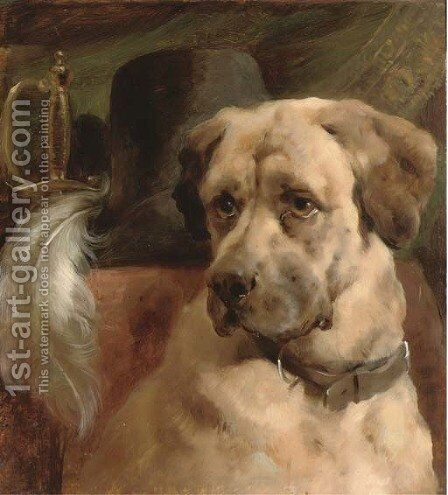 The head of a mastiff by (after) Edwin Douglas - Reproduction Oil Painting