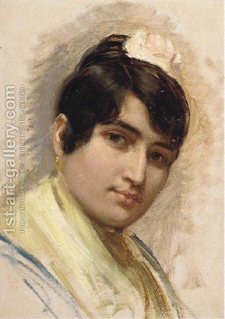 A Spanish beauty by (after) Long, Edwin - Reproduction Oil Painting