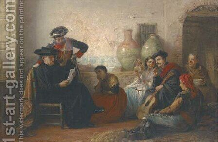 The letter by (after) Long, Edwin - Reproduction Oil Painting