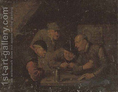 Card players in an interior by Egbert Jaspersz. Van, The Elder Heemskerck - Reproduction Oil Painting