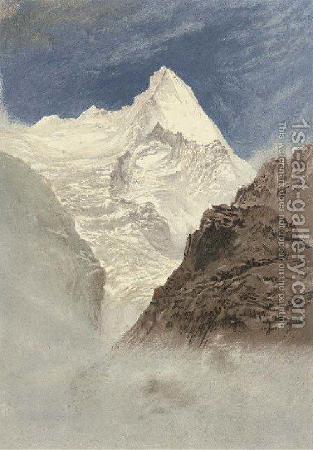 The Grivola from Col d'Arbole, the Italian Alps by (after) Elijah Walton - Reproduction Oil Painting