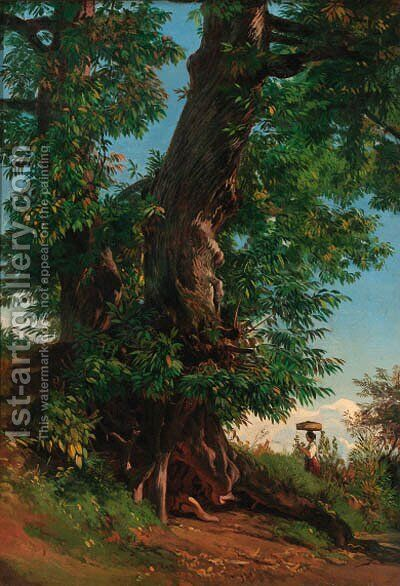 A summer's morning by (after) Friedrich Nerly - Reproduction Oil Painting