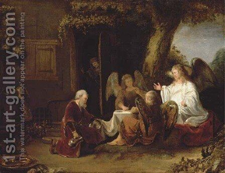 Abraham and the Three Angels by (after) Ferdinand Bol - Reproduction Oil Painting
