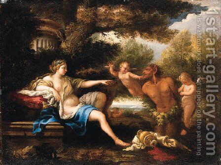 Diana and Bacchus by (after) Filippo Lauri - Reproduction Oil Painting