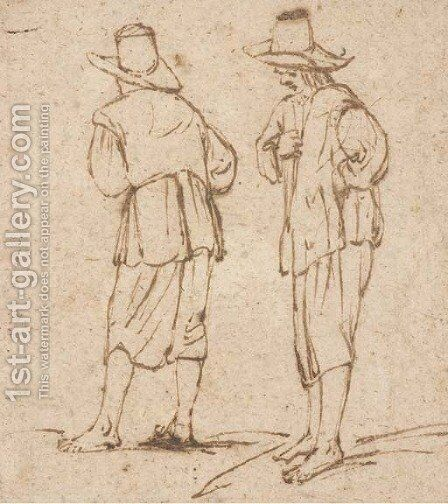 Two standing figures by (after) Filippo Napoletano - Reproduction Oil Painting