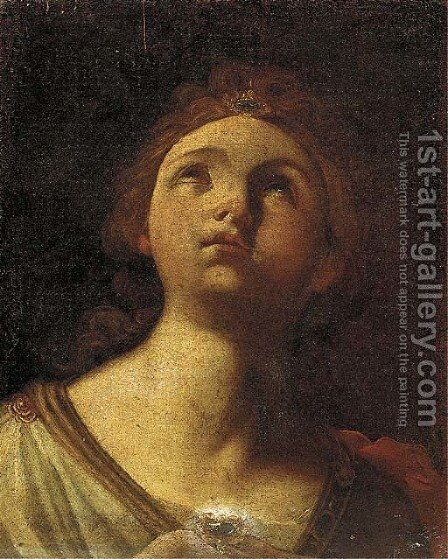 A sibyl by (after) Flaminio Torri - Reproduction Oil Painting