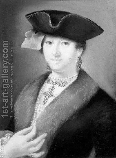 Portrait of an elegant lady by (after) Francesco Pavona - Reproduction Oil Painting