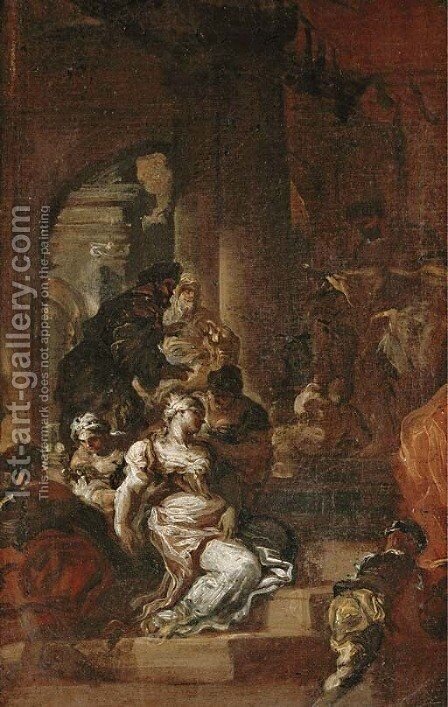Esther before Ahasuerus by (after) Francesco Solimena - Reproduction Oil Painting